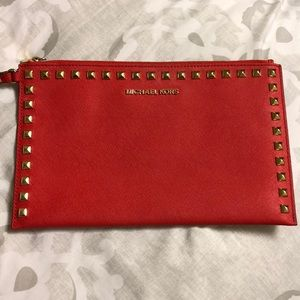 Michael Kors red clutch / wristlet